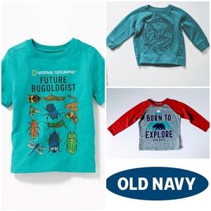 3 Pack Boys Old Navy Outdoorsy Shirts Size 2T